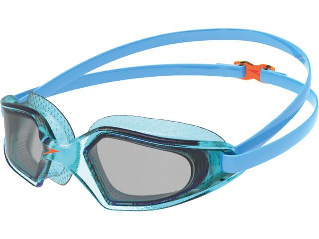 speedo Hydropulse Masque Enfant, poolblue/chilliblue/lghtsmoke